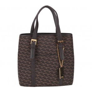 Bonia Brown Monogram Handbag