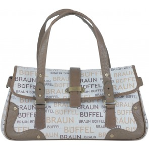 Braun Buffle White And Brown Handbag