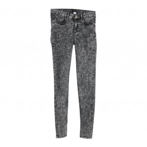 Divided Black Washed Pants