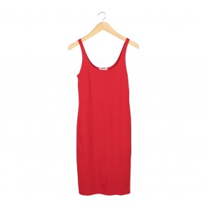 Forever 21 Red Sleeveless Midi Dress