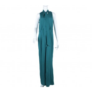 Oasis Dark Green Wrap Jumpsuit