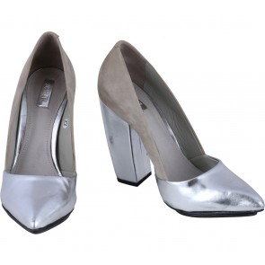 Schutz Grey And Silver Heels