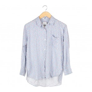 Blue And White Floral Shirt