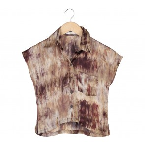 LN For Hardware Brown Abstract Shirt