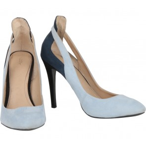 Zara Blue And Dark Blue Heels