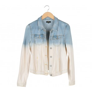 Cache-Cache Blue And Cream Denim Dyed Jaket