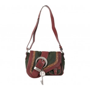 Christian Dior Multi Colour Denim Sling Bag