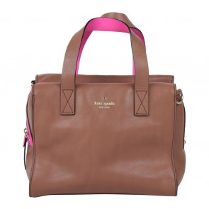 Kate Spade Brown And Pink Handbag