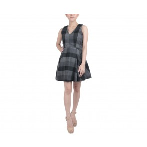 Joel Yonathan Dark Grey Plaid Mini Dress