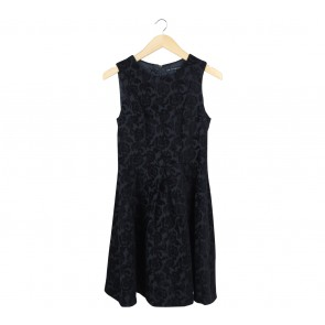 Cue Black Floral Mini Dress