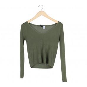 Divided Dark Green Sweater