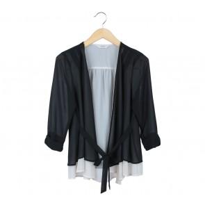 Iora Black And Cream Outerwear