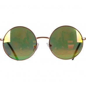 Bershka Multi Colour Rainbow Round Sunglasses
