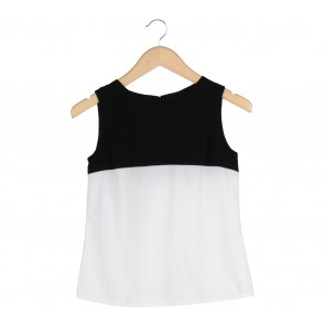 Cloth Inc Black And White Colorblock Sleeveless