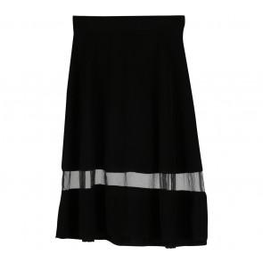 Cloth Inc Black Sheer Insert Skirt