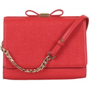 Charles and Keith Red Ribbon Clutch