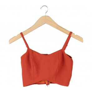 Cloth Inc Orange Cropped Sleeveless