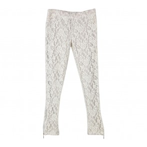 Cream Lace Pants