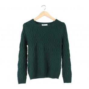 Herspot Green Knit Sweater