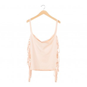 Cotton Ink Peach Fringe Vest