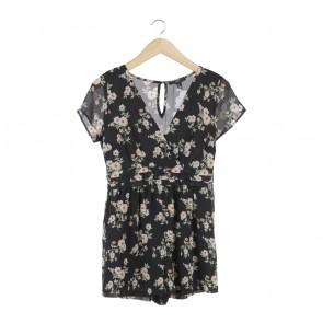 Forever 21 Black Floral Jumpsuit