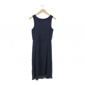 Topshop Dark Blue Midi Dress