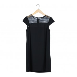 Zara Black Combi Midi Dress