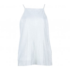 Stradivarius Off White Glittery Sleeveless