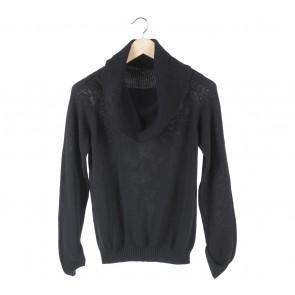 Lookboutiquestore Black Knit High Neck Sweater