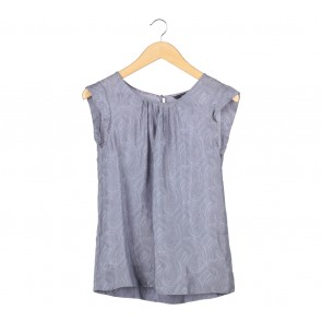 H&M Grey Paisley Blouse
