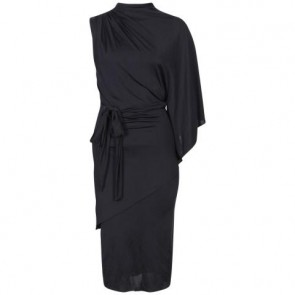 Badgley Mischka Black Midi Dress
