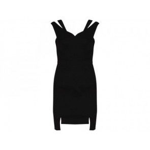 Black Halo Black Midi Dress