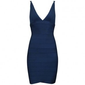 Herve Leger Dark Blue Midi Dress