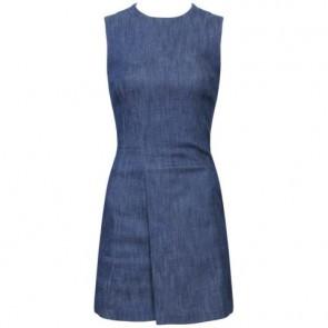 Victoria Beckham Blue Midi Dress