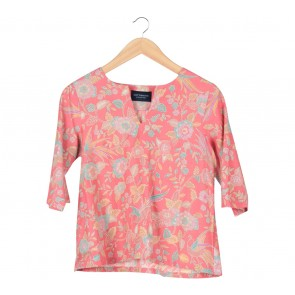 Cotton Ink Pink Floral Blouse