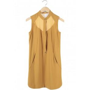Ecole Mustard Mini Dress