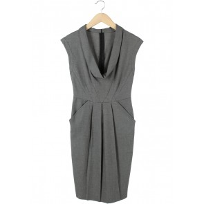 Zara Black And White Midi Dress