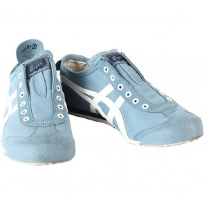 Onitsuka Tiger Light Blue Slip On Sneakers