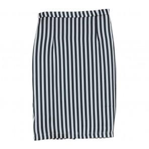 Shop At Velvet Black And Silver Pencil Satin Midi Skirt