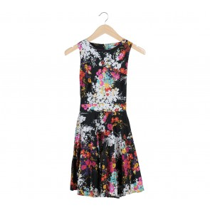 Closet Black Floral Mini Dress