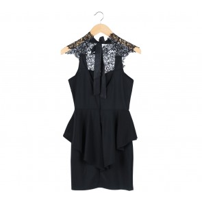 Something Borrowed Black Lace Insert Sleeveless Mini Dress