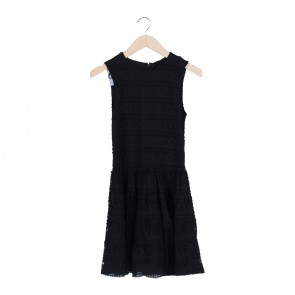 Black Lace Sleeveless Mini Dress