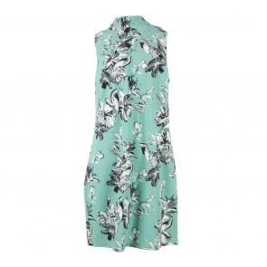 Cloth Inc Green Floral Choker Neck Mini Dress