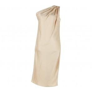 Shop At Velvet Gold One Shoulder Pleated Mini Dress