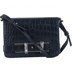 Mango Black Croco Sling Bag