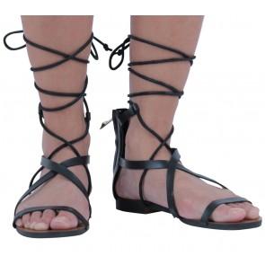 Mango Black Gladiator Sandals