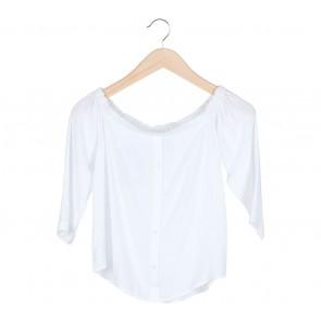 Cotton Ink White Cold Shoulder Blouse