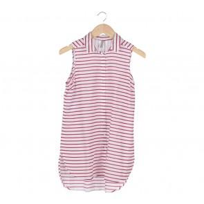 Stradivarius White Stripes Shirt Mini Dress