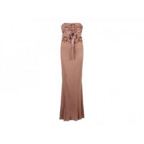 Biyan Beige Midi Dress