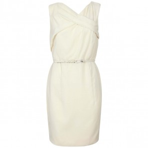 Carolina Herrera Cream Midi Dress